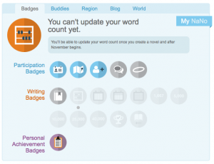 NaNoWriMo Badges